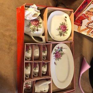 China Toy Tea Set With Subtle Floral Print Antique